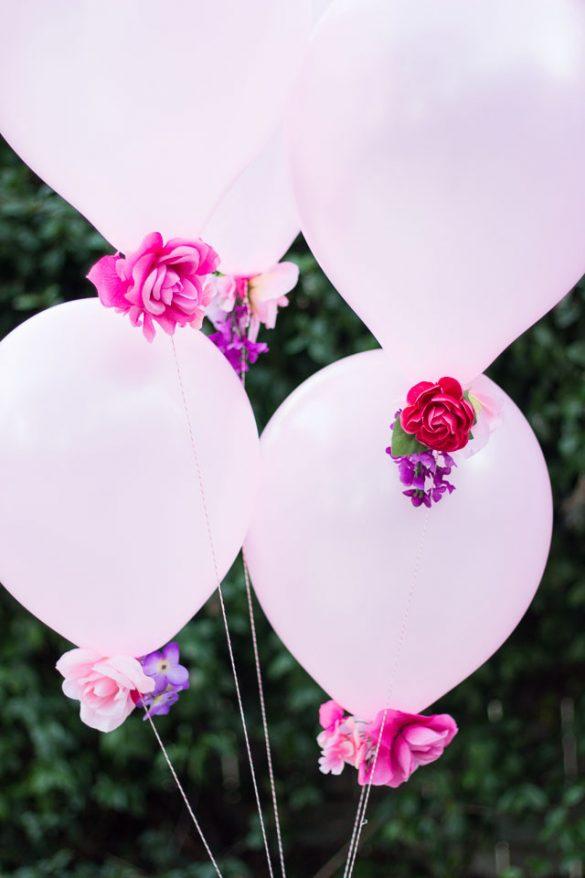 DIY Flower Balloons - Design Improvised