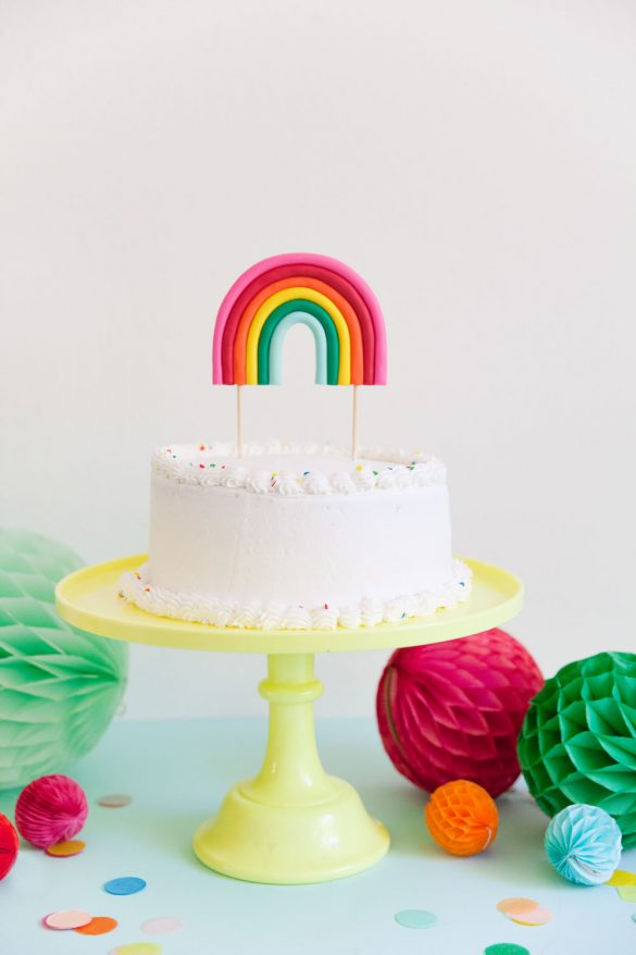 DIY RAINBOW CAKE TOPPER - Tell Love and Party