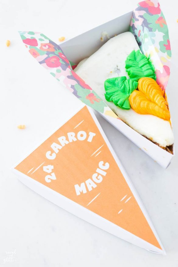 Pie Slice Box Carrot Labels