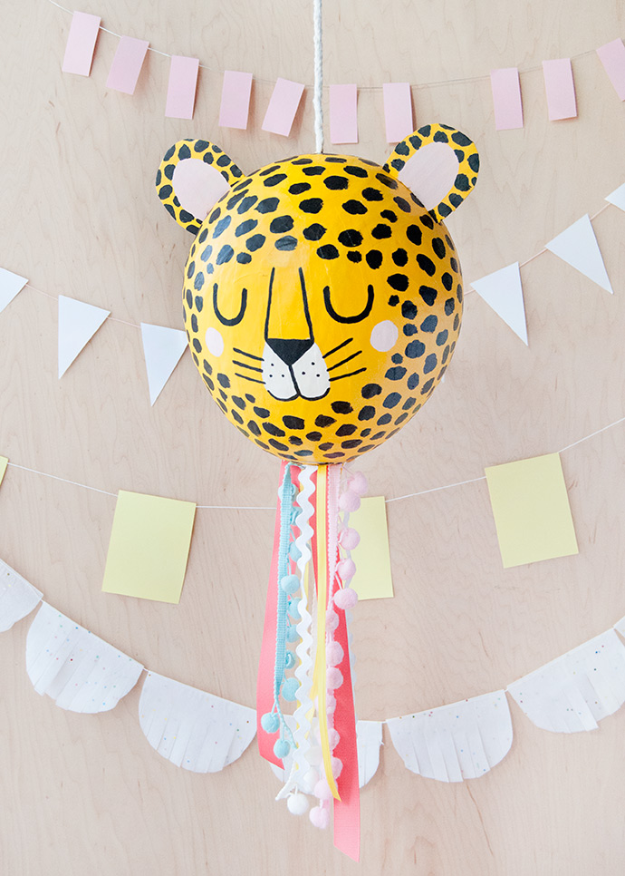 DIY Paper Maché Cheetah Piñata