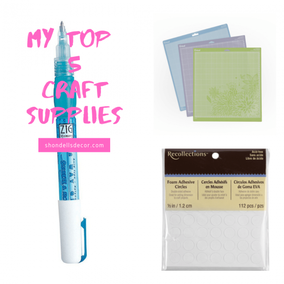 My Top 5 Craft Supplies