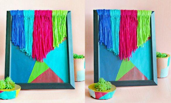 How To Make DIY Yarn Wall Art