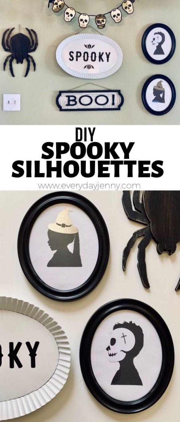 DIY SPOOKY HALLOWEEN SILHOUETTES WITH YOUR CRICUT