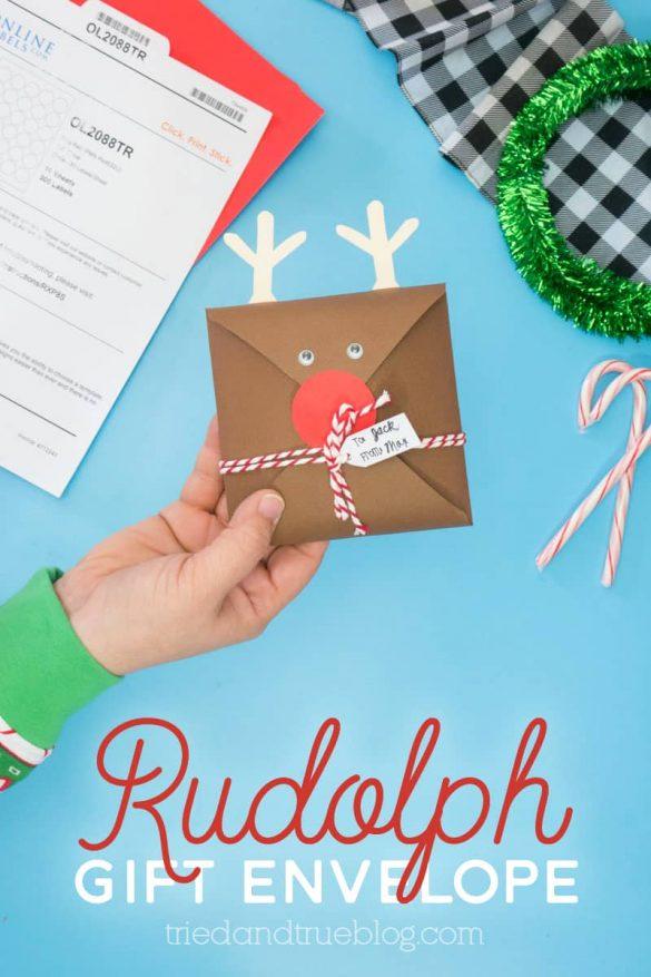 Rudolph Gift Envelope Easy Last Minute Gift