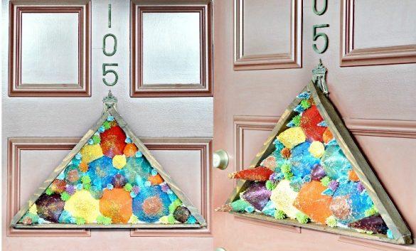 DIY Door Decor Using Paper Cones