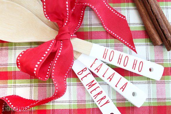 Festive DIY Christmas Wooden Spoons Tutorial