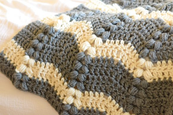 Vintage Lola Crochet Ripple Throw Pattern