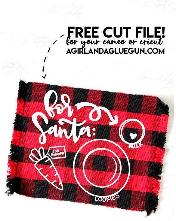 Santa's Cookie Plate SVG Cut file