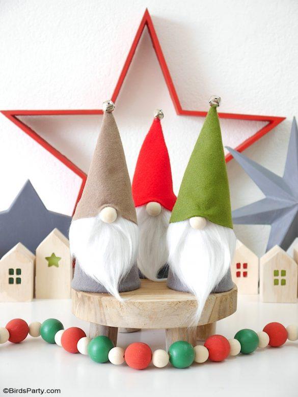 diy christmas gnomes no sew free template