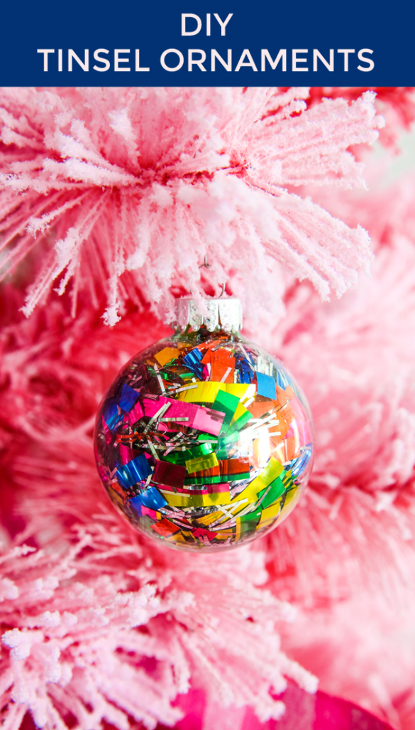 10 Minutes or Less: DIY Tinsel Ornaments