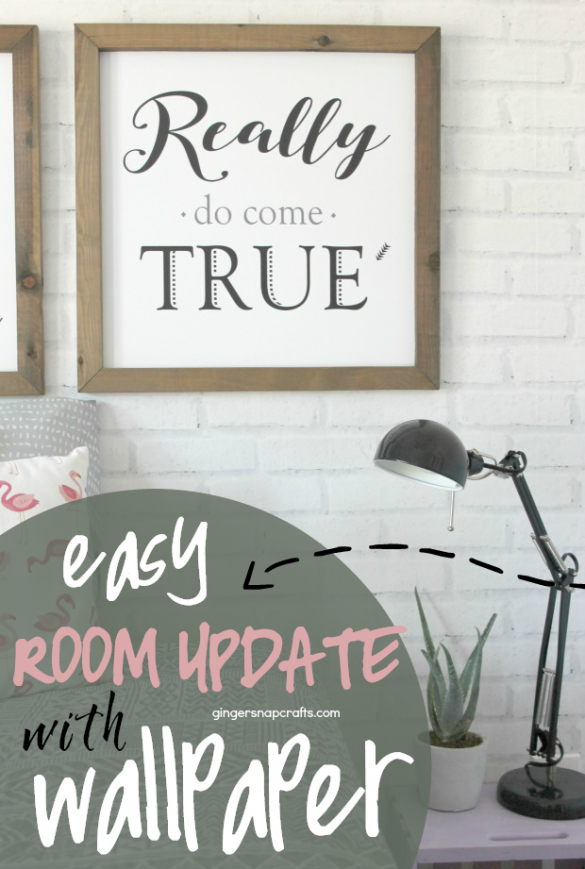 Easy Room Update with Wallpaper from Photowall