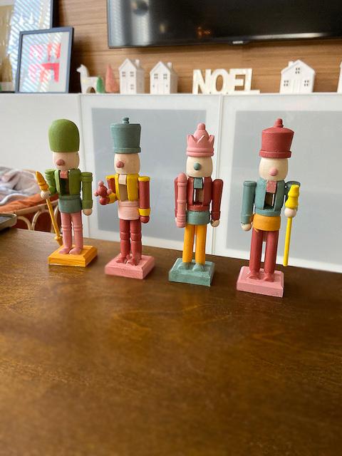 DIY Modern Color Block Nutcrackers