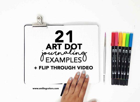 21 Art Dot Journal Examples: with Flip through video
