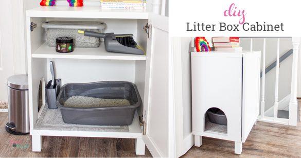 How to Make a DIY Hidden Litter Box from an IKEA Cabinet