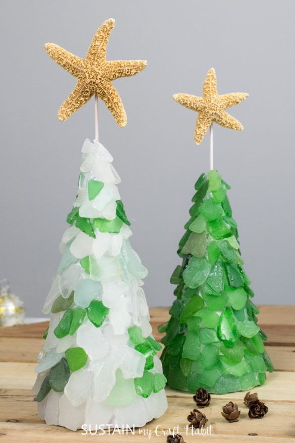 DIY BEACH GLASS TREES