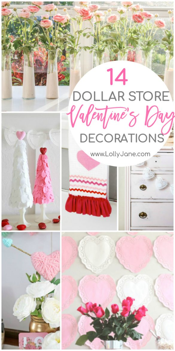DIY Dollar Store Valentines Day Decorations