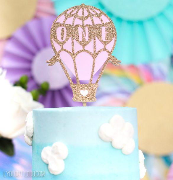How to Make a DIY Hot Air Balloon Birthday Cake Topper