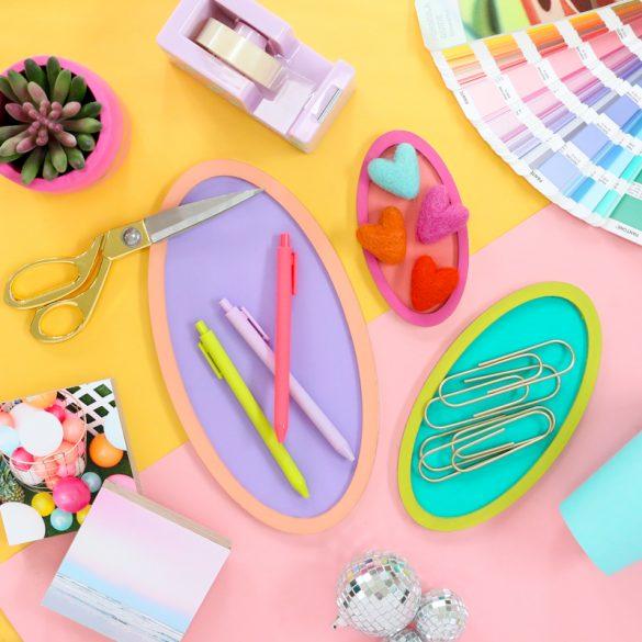 DIY Color Blocked Organizing Trays