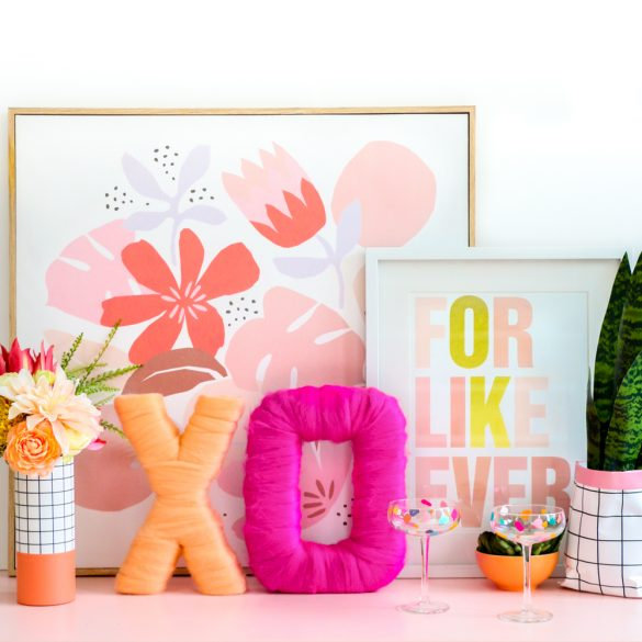 DIY Typography Wall Art with Roving