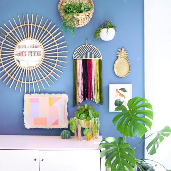 Easy DIY Yarn Wall Hangings