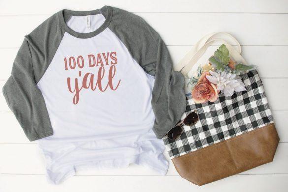 100 Days of School Free SVG