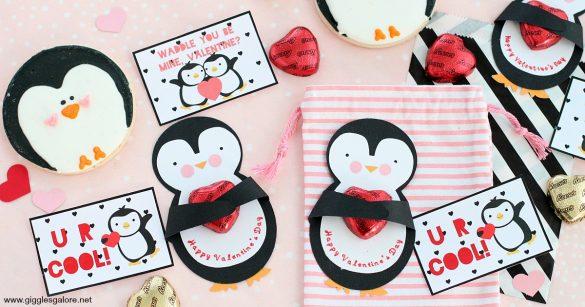 DIY Cricut Made Penguin Valentine Card