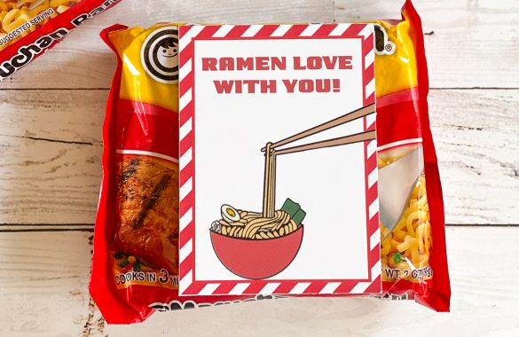 Ramen Love With You Printable Valentines