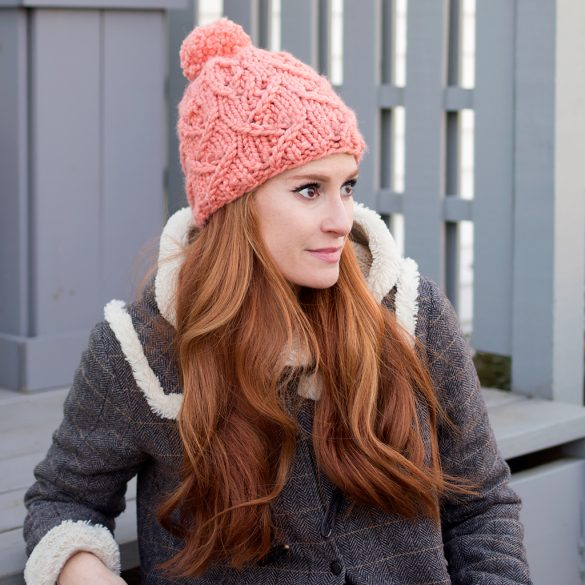 Zig Zag Stitch Hat Knitting Pattern