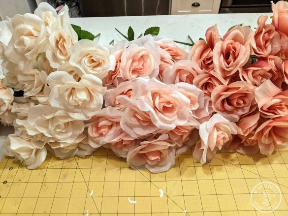 Ombre Rose Heart