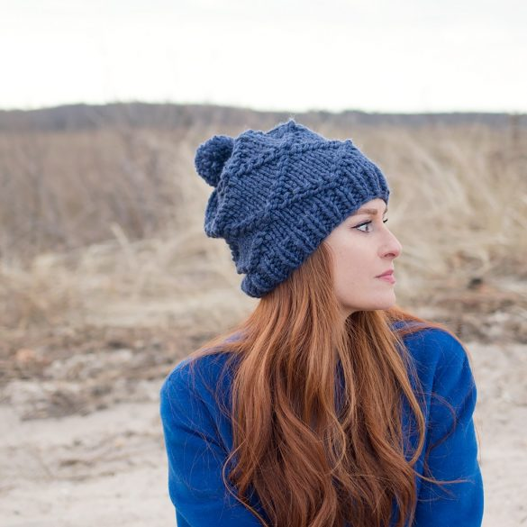 Diamond Knit Hat Pattern