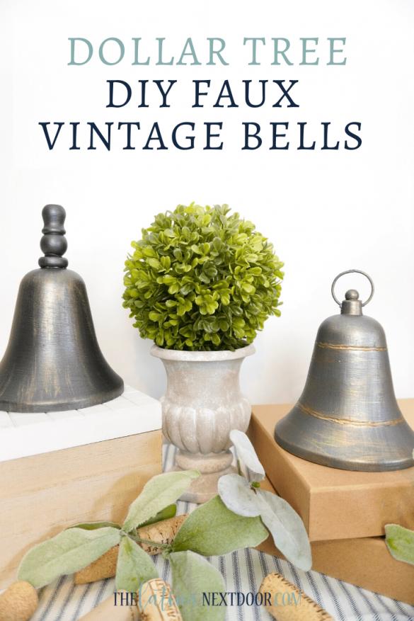 DIY Dollar Tree Faux Vintage Bells