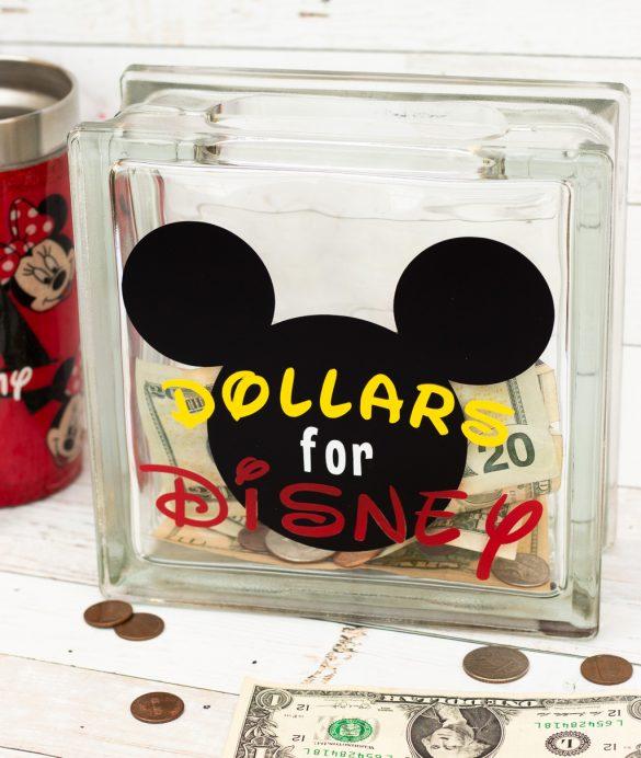 Cricut Disney Project:  DIY Disney Fund Jar Video Tutorial!