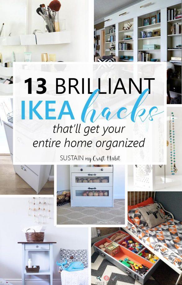 13 Brilliant IKEA Hack Ideas for Home Organization