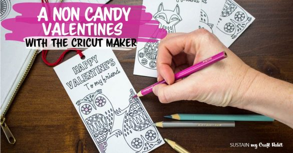 Valentine's Day Coloring Bookmarks with the Cricut Maker