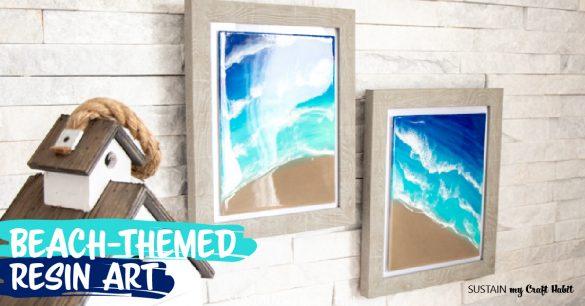 Calming Seashore Resin Art with Envirotex Lite