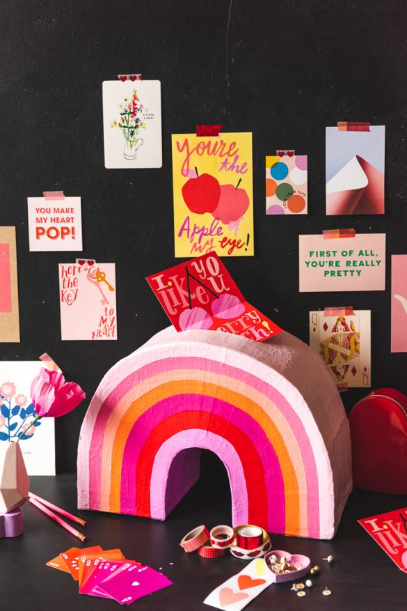 DIY Valentine's Rainbow Box and competition