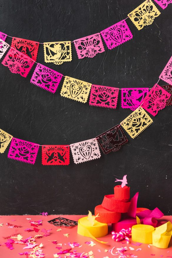 Printable Valentine Papel Picado Streamers