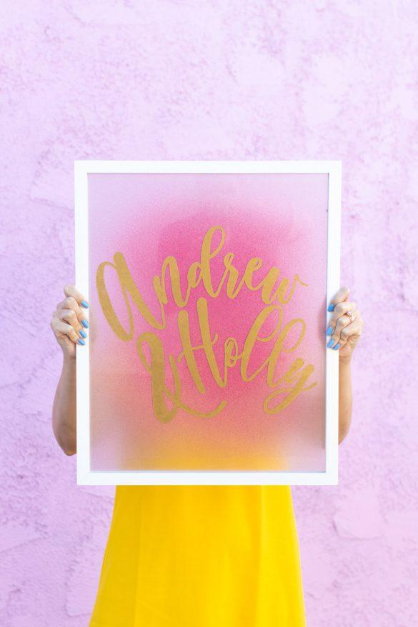 Easy DIY Calligraphy Sign for Weddings