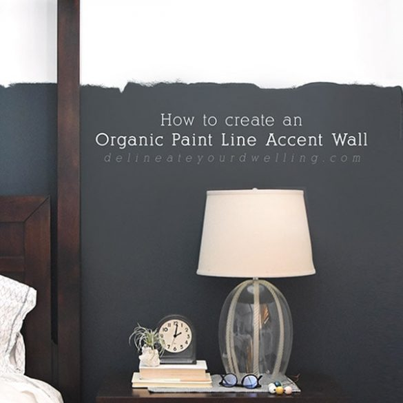 DIY Organic Paint Line Accent Wall