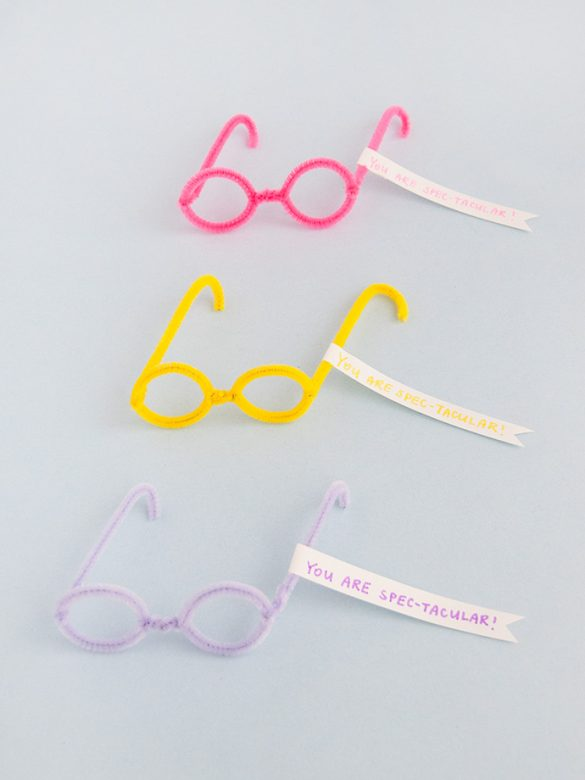 Pipe Cleaner Glasses Valentines