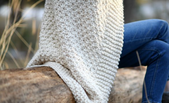 Aspen Mountain Throw Blanket Knitting Pattern