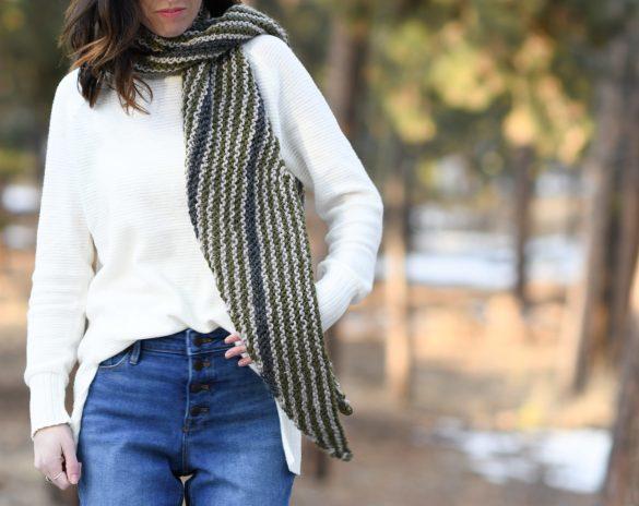How To Knit A Bias Wrap – Stripey Bias Wrap Pattern