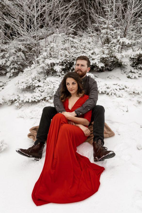 Red Wrap Dress DIY (Engagement Shoot Part 1)