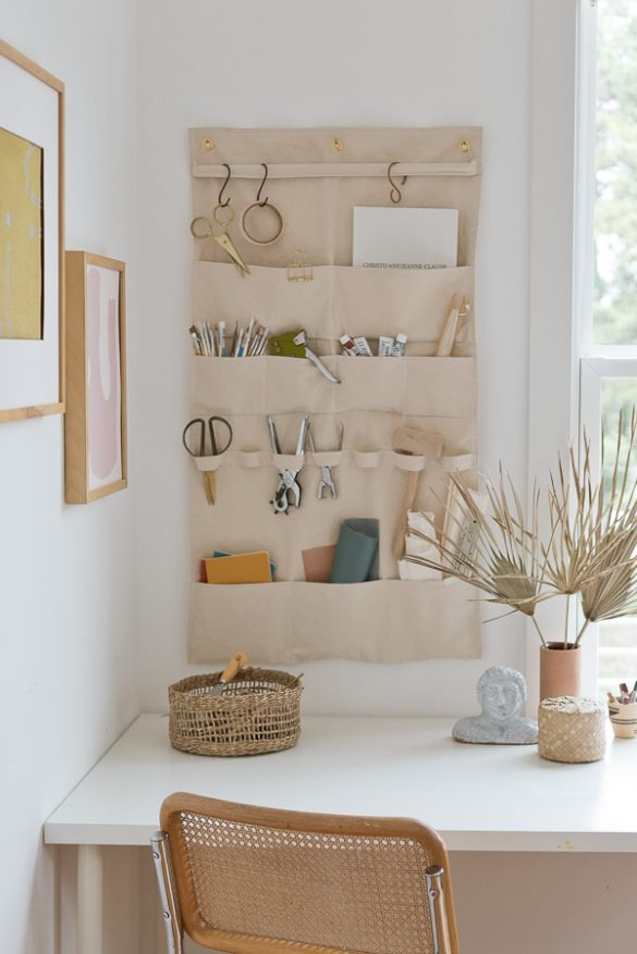 A (DIY) Hanging Wall Organizer Pretty Enough to Take Pictures Of (But Still Functions Like a Champ)