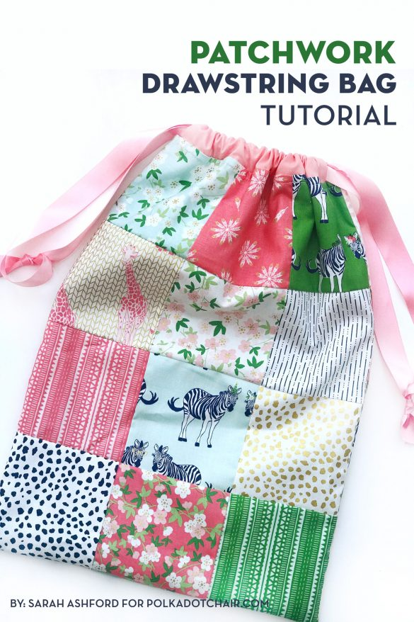 Patchwork Drawstring Bag Tutorial
