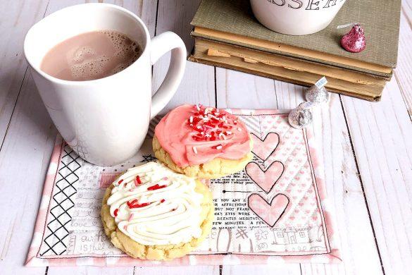Valentine Mug Rug Tutorial using Quilt As You Go Method