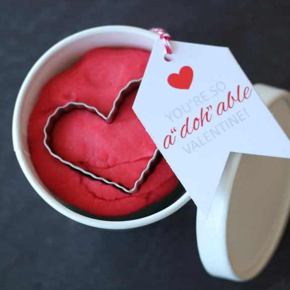 Cutest Play Doh Valentine Printables + Recipe