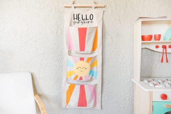 Sunshine Fabric Wall Organizer