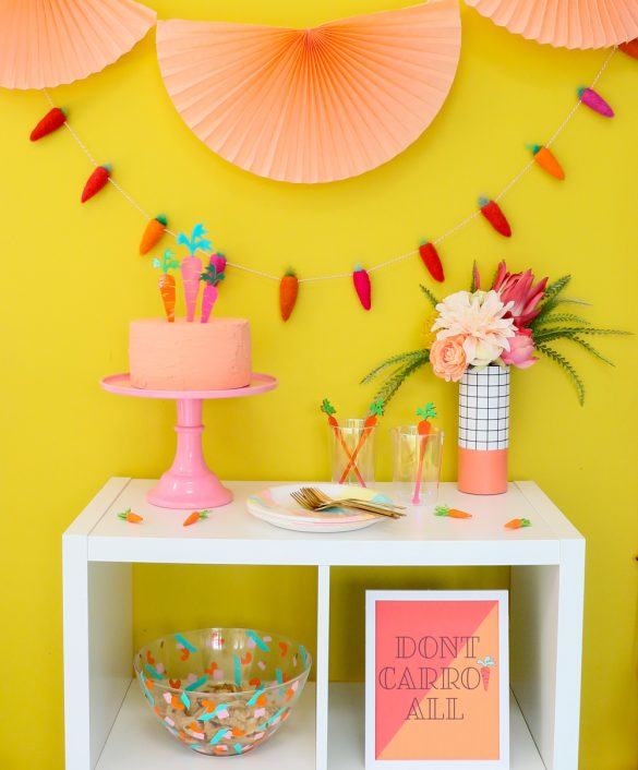 Colorful Easter Decorations and Free Printable Art
