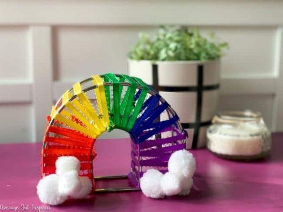 DIY Rainbow Room Decor (from a Dollar Tree Napkin Holder!)